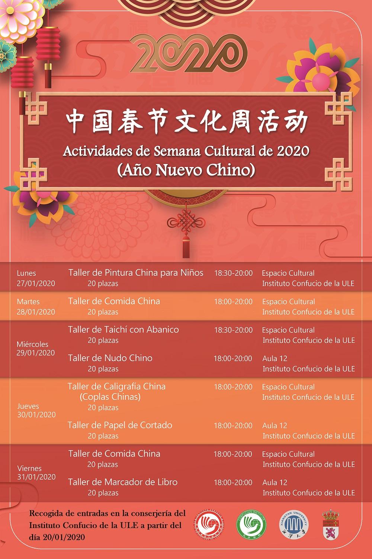 PROGRAMA SEMANA CULTURAL AÑO NUEVO CHINO 2020 - imagen 3