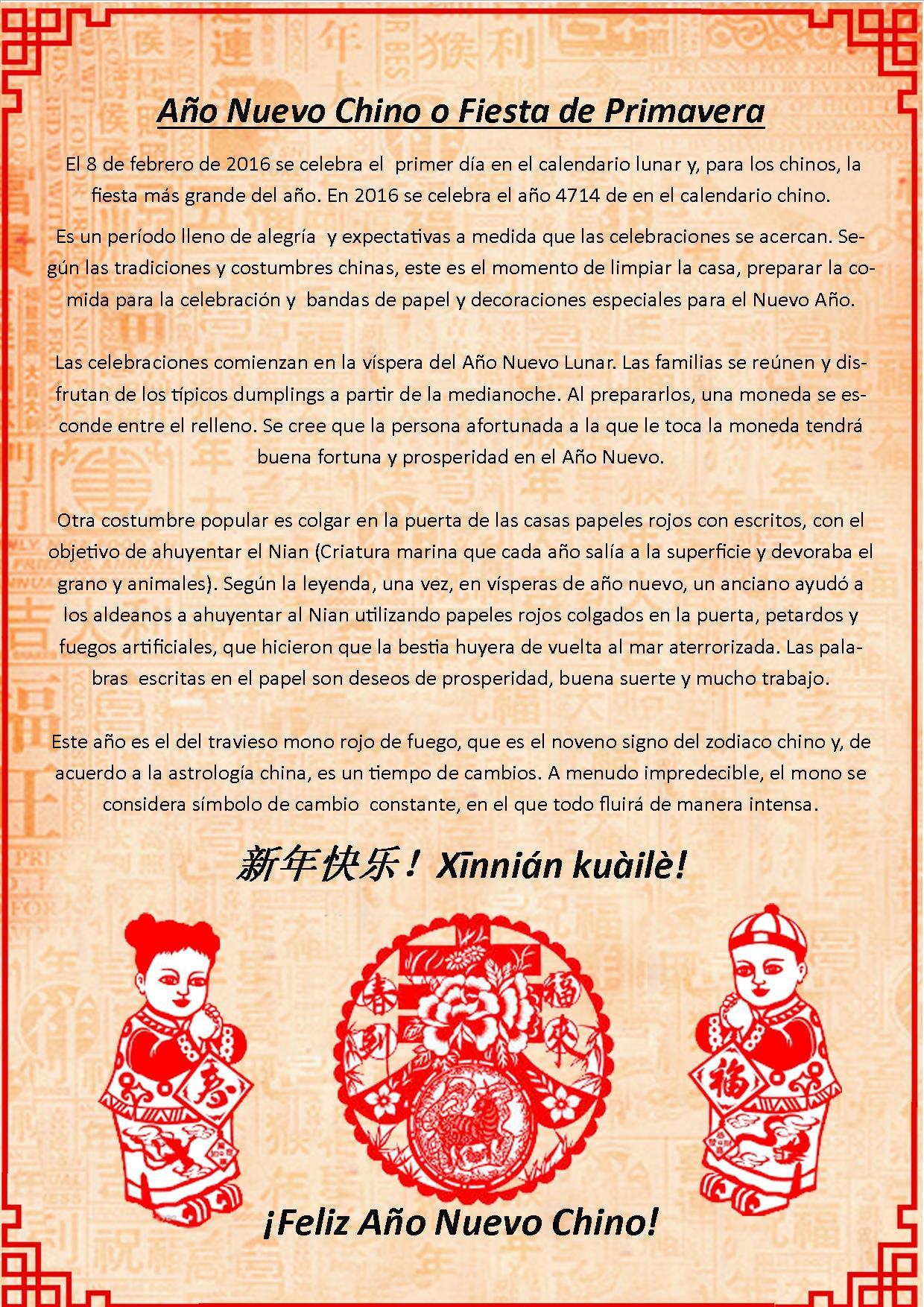 Fiesta de Primavera o Año Nuevo Chino - imagen 2