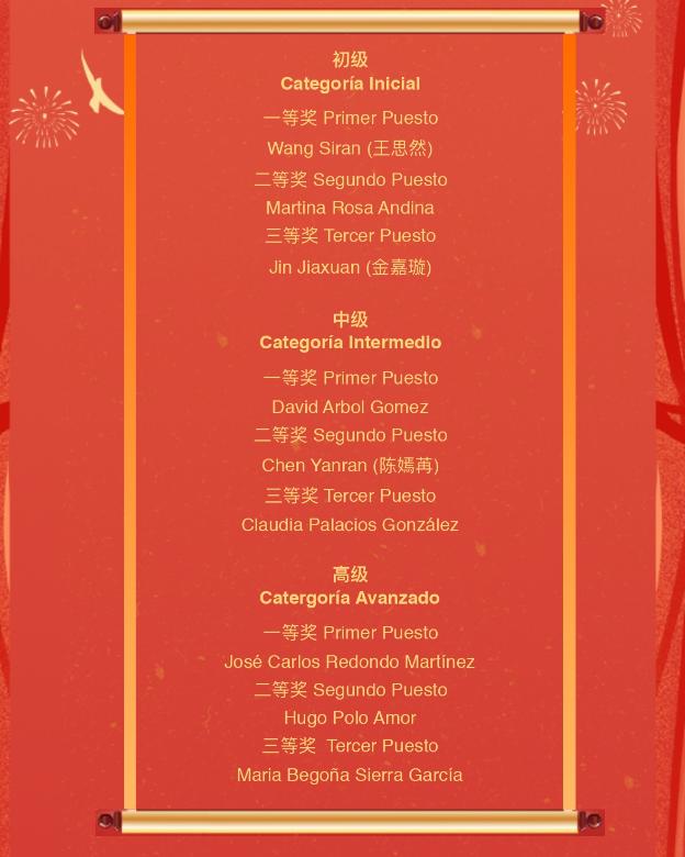 Ganadores del Concurso de Escritura China - imagen 3